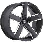 2Crave Wheels No. 35 Black with Chrome Inserts