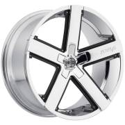 2Crave Wheels No. 35 Chrome with Black Inserts