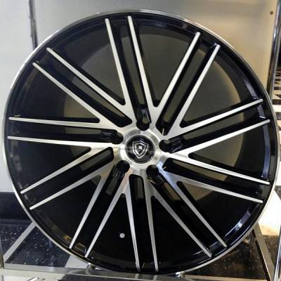 White Diamond 3307Machined Black Wheels