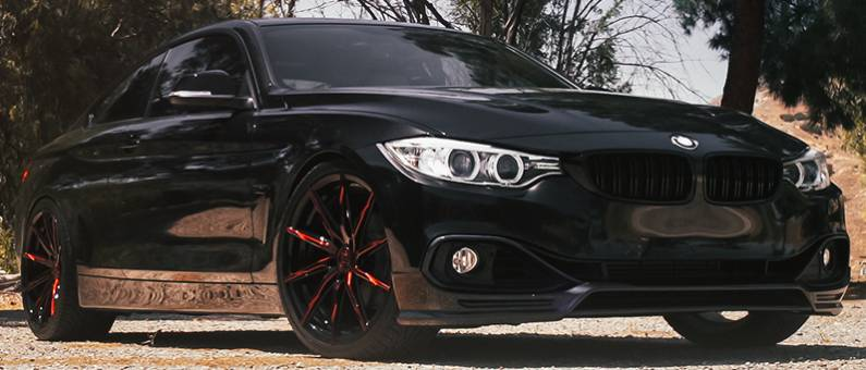 BMW 4 Series on Lexani CSS-15 BG with Red Tint