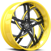 Amani Moderno Black and Yellow Wheels