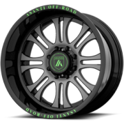 Asanti Offroad AB-101 Black & Grey with Green Text