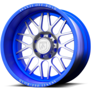 Asanti Offroad AB-102 Brushed and Blue Wheels