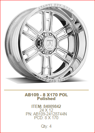 24x12 Asanti AB109 8x170 Polished -44mm