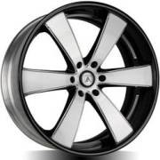 Asanti AB476 Machine Black Multi-Piece Wheels
