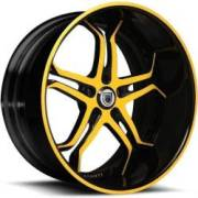 Asanti DA173 Black and Yellow Wheels