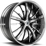 Asanti DA175 Chrome and Black Wheels