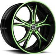 Asanti DA176 Seagreen and Black Wheels