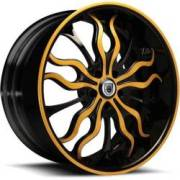 Asanti DA180 Black and Orange Wheels