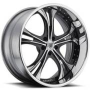 Asanti DA189 Chrome and Black Wheels