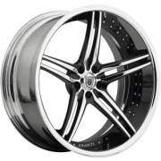 Asanti 805<br>Black and Chrome Wheels