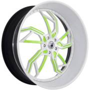Asanti 806 Green and White Wheels