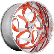 Asanti 808 Chrome and Tangerine Wheels