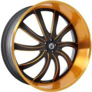 Asanti 810 Black and Orange Wheels