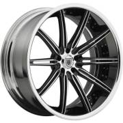 Asanti 811 Chrome and Black Wheels