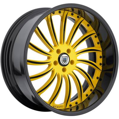 Asanti 815 Yellow and Black Wheels
