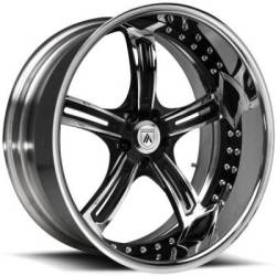 Asanti AF178 2-Tone Chrome and Black Wheels