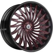 Asanti AF-824 Red and Black Wheels