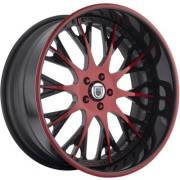 Asanti AF-825 Red and Black Wheels