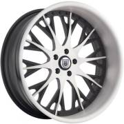 Asanti AF-825 White and Black Wheels