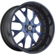 Asanti AF-826 Blue and Black Wheels
