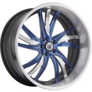 Asanti AF-827 Blue and Brushed Wheels