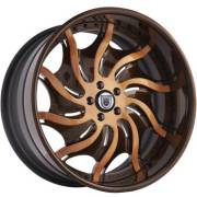 Asanti AF-831 Orange and Brown Wheels