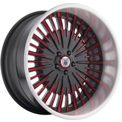 Asanti AF-833 Black and Red Wheels