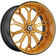 Asanti 834 Orange and Black Wheels