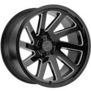 Black Rhino Thrust Gloss Black Milled Wheels