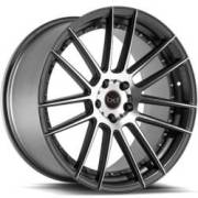 Blaque Diamond BD-4 Matte Graphite Machined Wheels