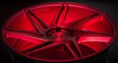 Blaque Diamond BD-1 Custom Red Wheels