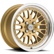 Drag Concepts R17 Gold Wheels