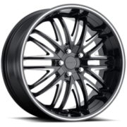 Forte F75 Euro Black Milled Wheels