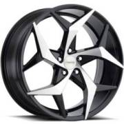 Forte F78 Shuriken Black Machined Wheels