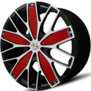 Gianna Fanatic Black and Red Wheels