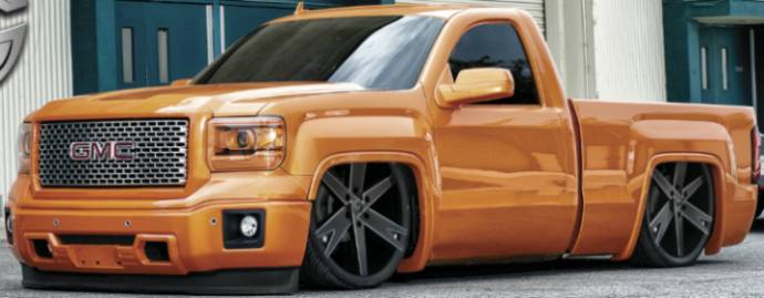 Gima Wheels on GMC Truck