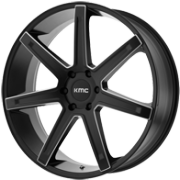 KMC KM700 Satin Black Milled Wheels