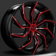 Lexani Matisse Black and Red Wheels