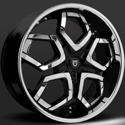 Lexani Hydra Black and Chrome Wheels