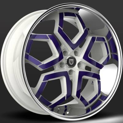 Lexani Hydra White and Purple Custom Wheels
