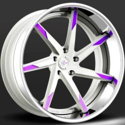 Lexani LC-109 Forged White and Purple Wheels