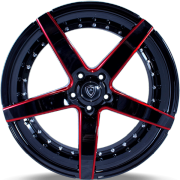 Marquee M3226 Black and Red Wheels