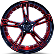 Marquee 3247 Black and Red Wheels
