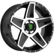 Monster Energy 648MB Machine Black Wheels