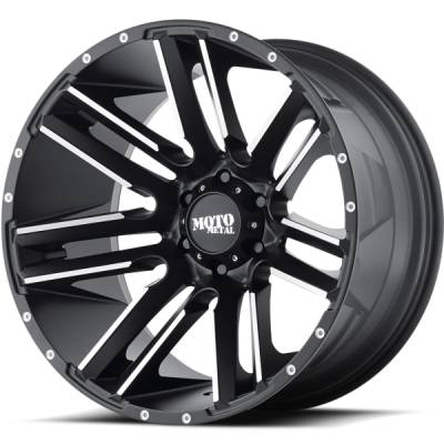 Moto Metal MO978 Razor Blade Satin Black Machined