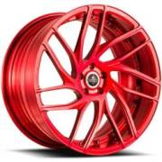 Savini Forged SV62-D DuoBlock Brushed Red Wheels