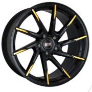 STR 621 Black and Gold Wheels