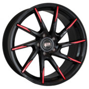 STR 621 Black and Red Wheels