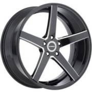 Strada Perfetto Gloss Black Milled Wheels